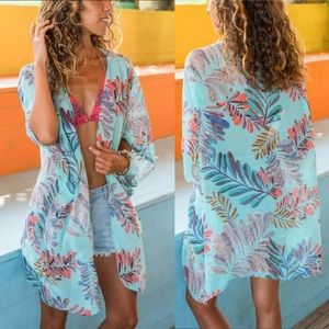 🎉Colorful Flower Kimono Cover Up!